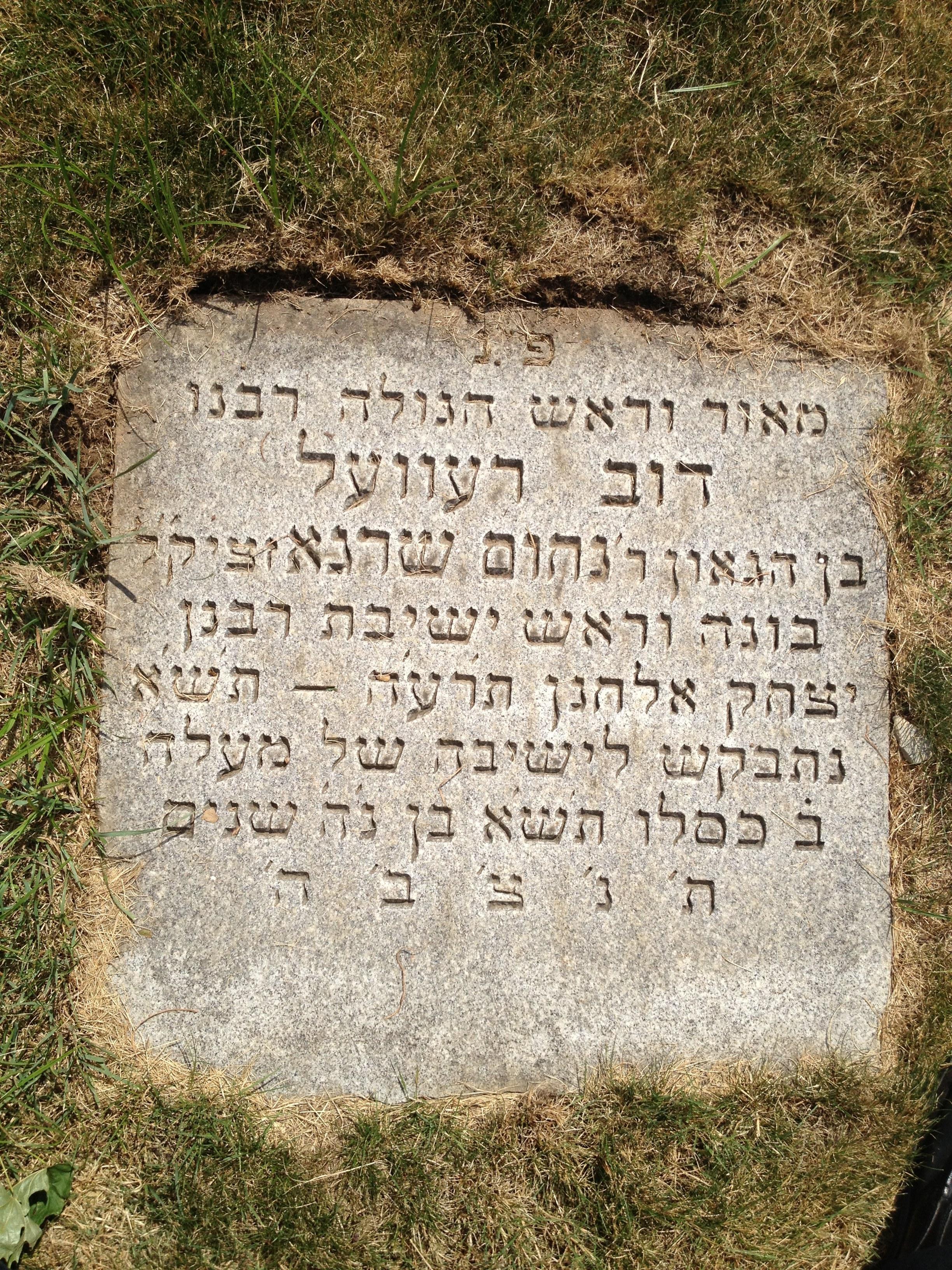 Rabbi Dov Revel | kevarim.com