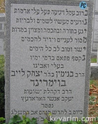 Rabbi Binyamin Bomrind