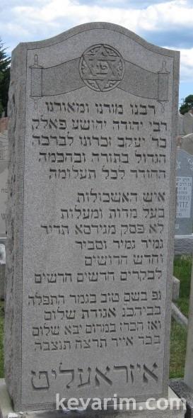 Rabbi Yehuda Yehoshua Falk Israelite