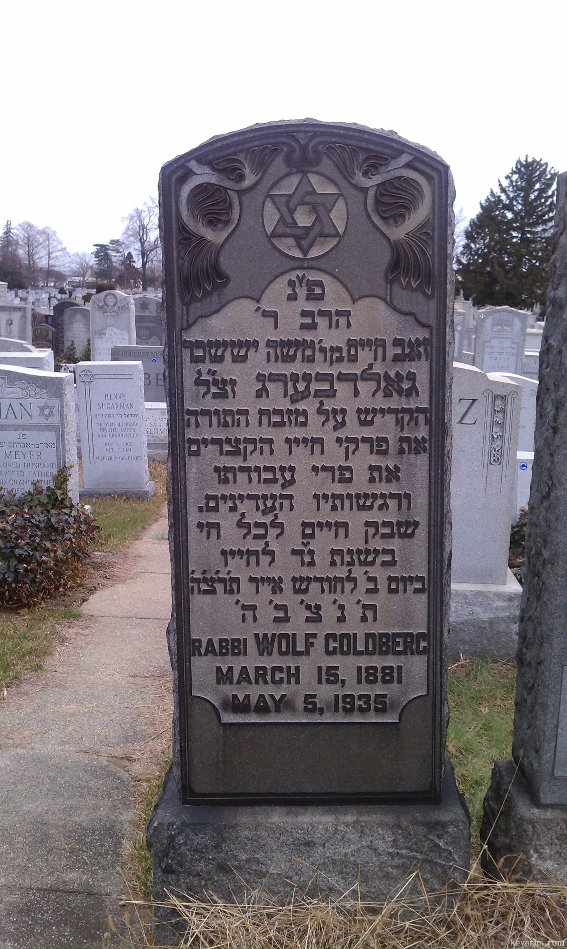 Rabbi Zev Chaim Wolf Golberg