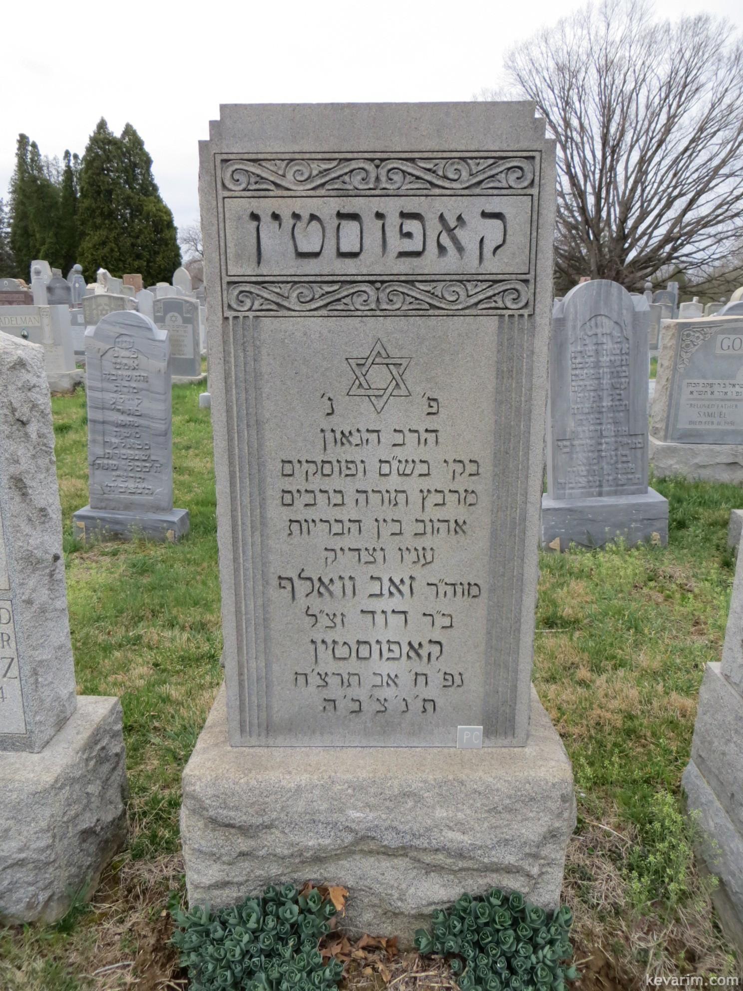 Rabbi Zev Wolf Kapustin