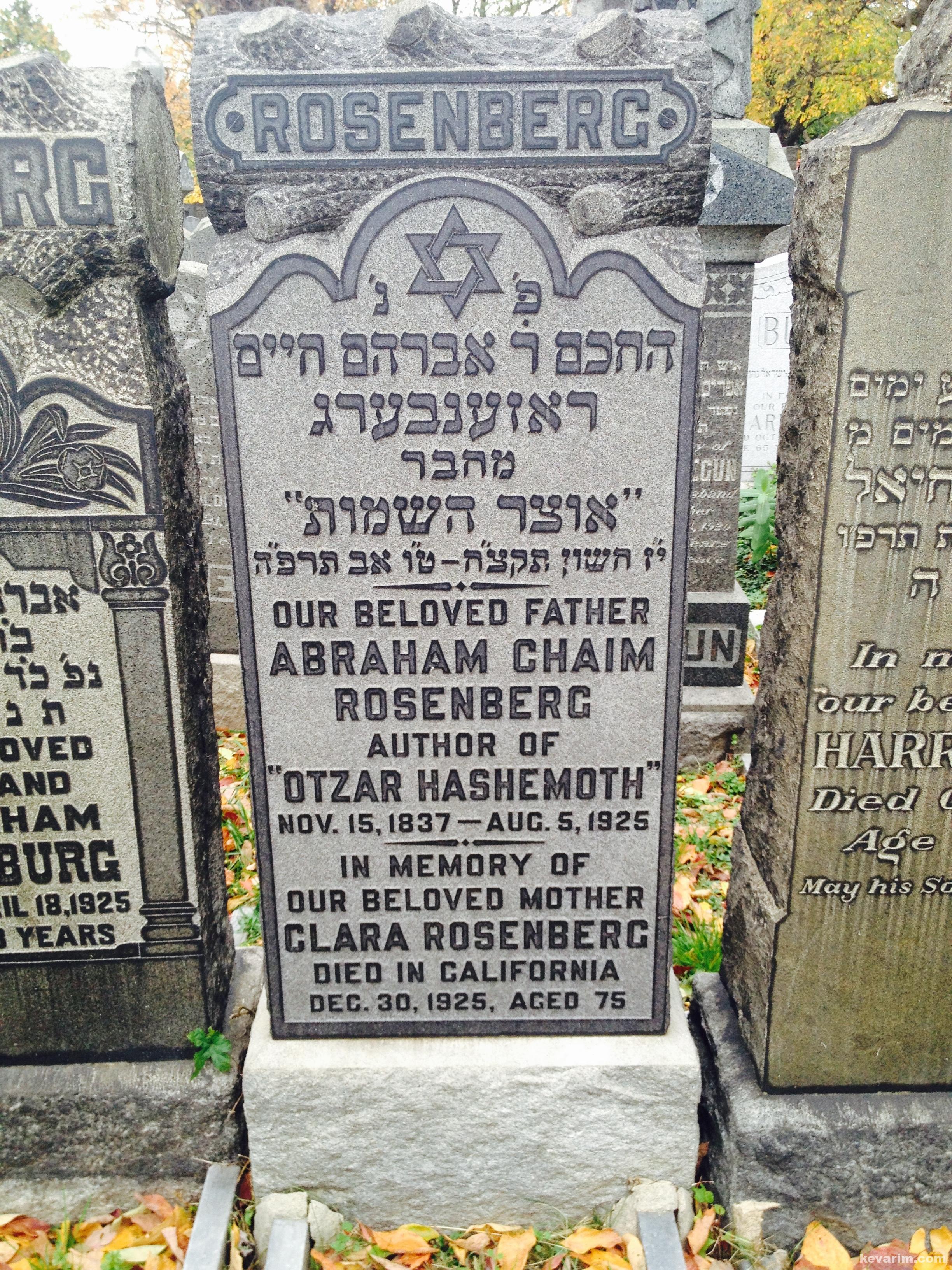 Rabbi Avroham Chaim Rosenberg