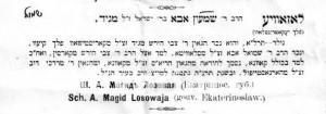 Magid Shmuel Aba bio